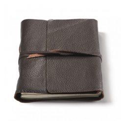 Bruin leren notitieboek Timu