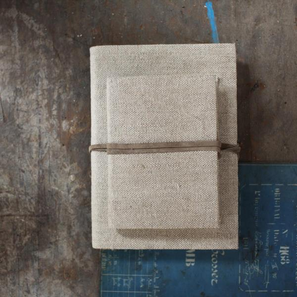 Linnen notitieboek