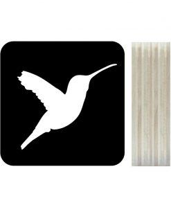 Dots Lifestyle hout print Kolibrie zwart