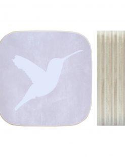 Dots Lifestyle hout print Kolibrie licht grijs
