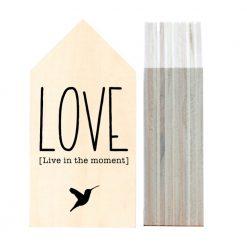 Dots Lifestyle houten huisje love