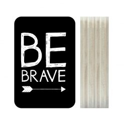 Dots Lifestyle hout print Be Brave zwart