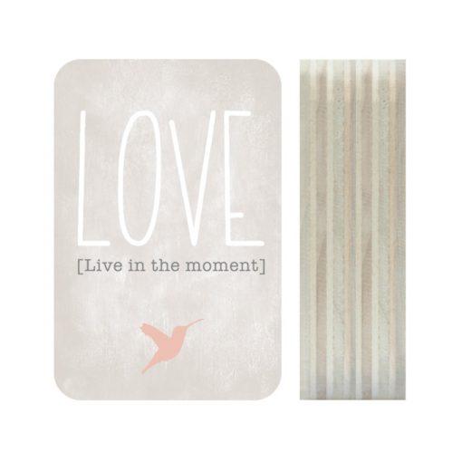 Dots Lifestyle hout print Love grijs