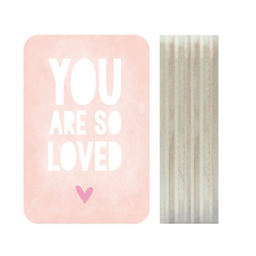 Dots Lifestyle hout print You are so loved roze