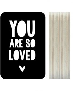 Dots Lifestyle hout print You are so loved zwart