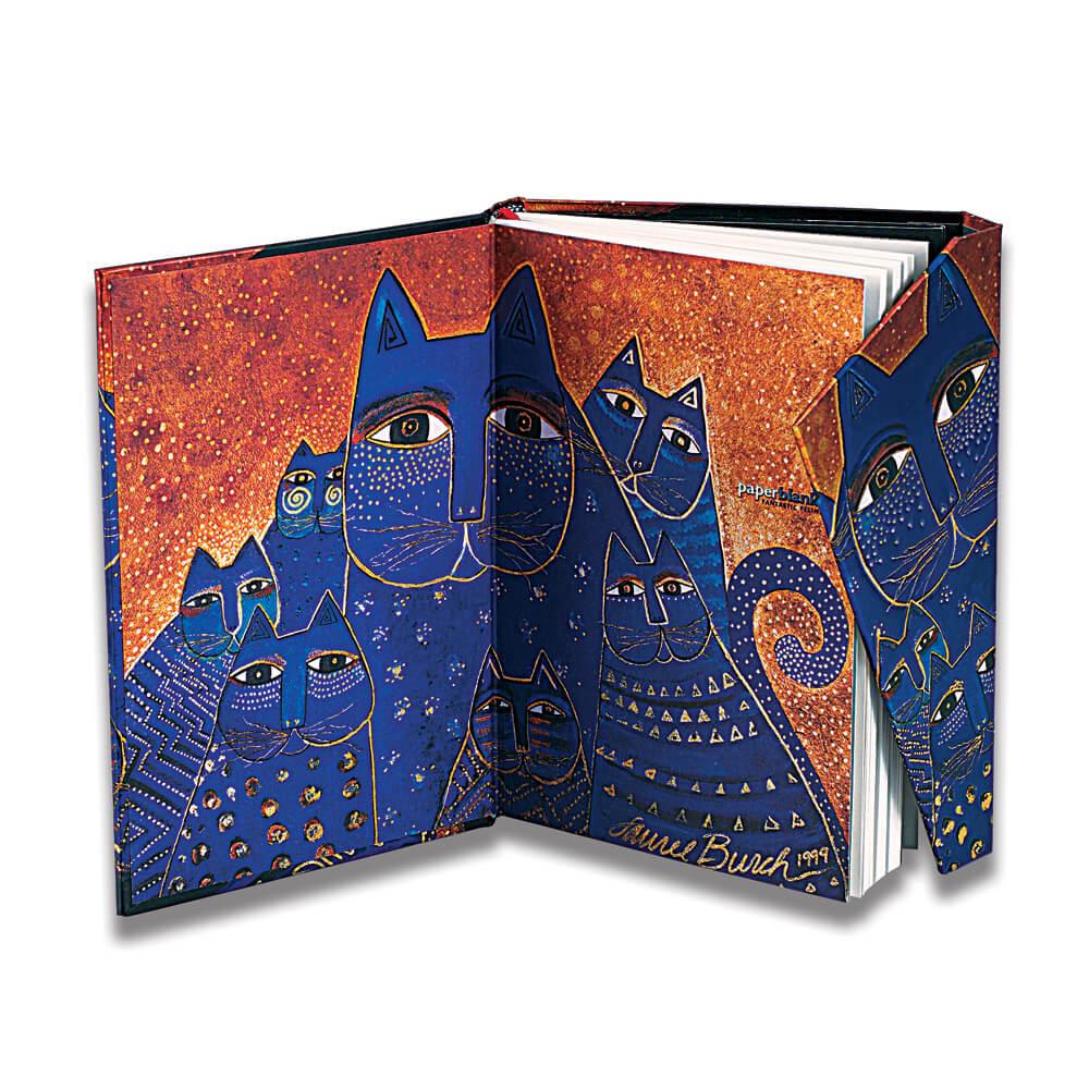 Paperblanks notitieboek Blue Cats & Butterflies midi