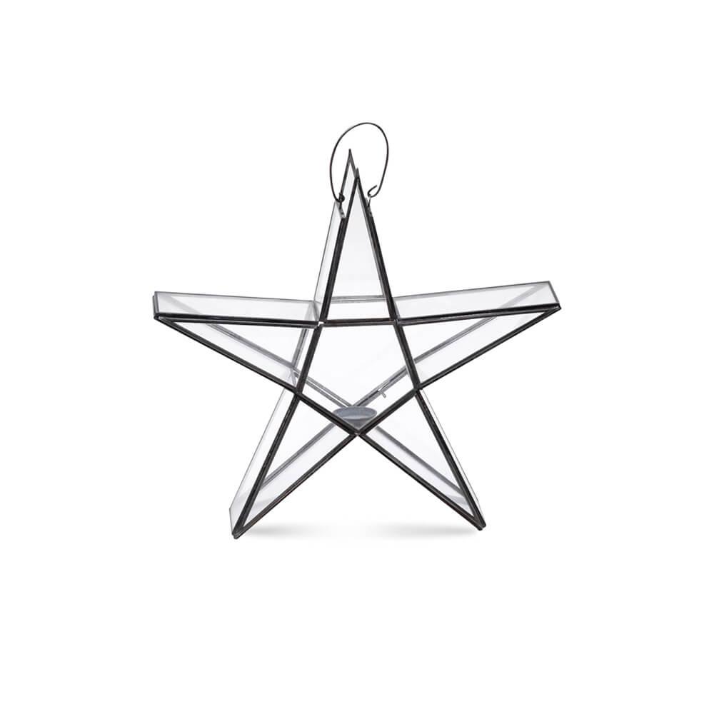 Nkuku Star waxinelichthouder zink