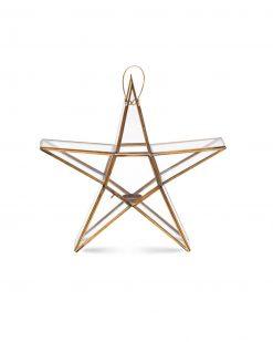 Nkuku Star waxinelichthouder koper