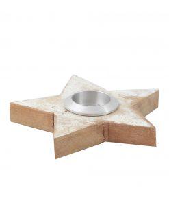 Scrap wood waxinelichthouder ster