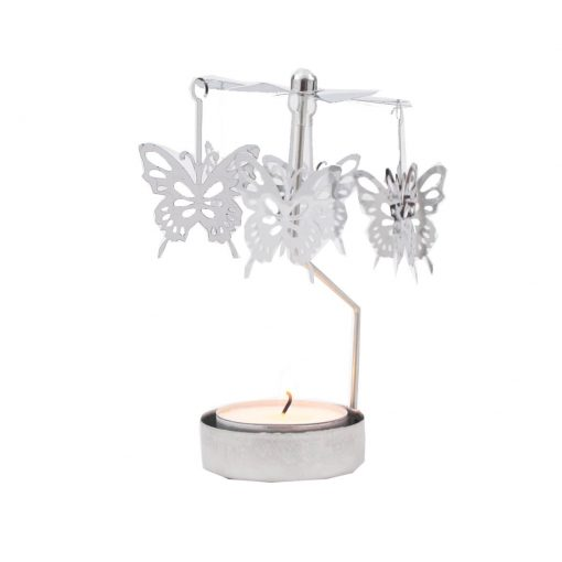 Waxinelicht houder draaiende vlinders klein