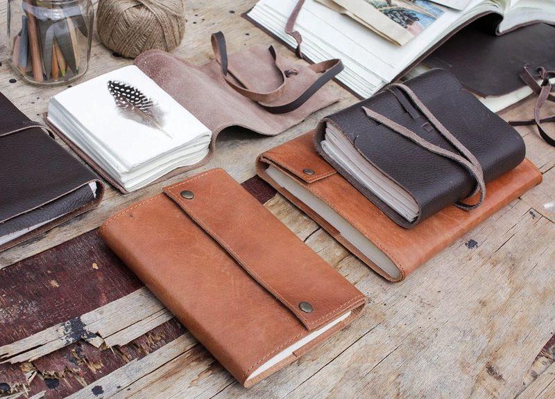Leren-notitieboek-Savannah-set