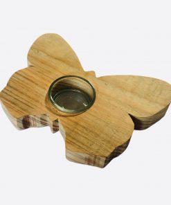 waxinelichthouder-vlinder-hout